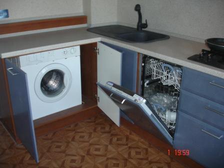 Как встроить в кухню стиральную машину? фото
