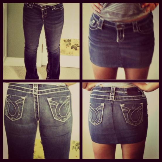 Как юбку перешить в шорты? фото