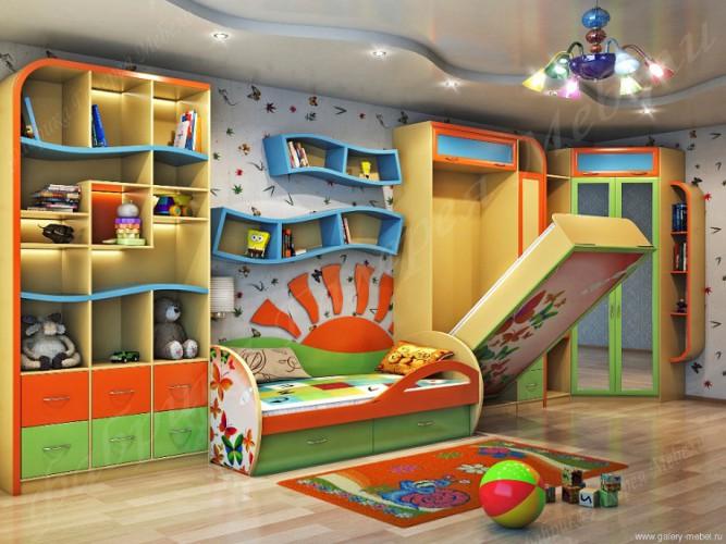 Как обустроить детскую комнату для двоих детей? фото