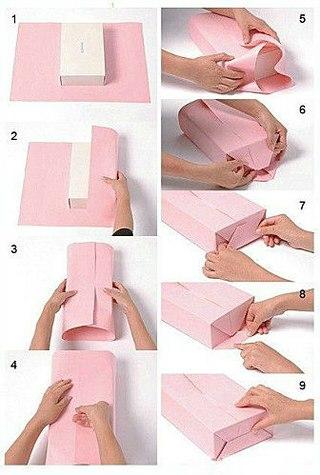 Как завернуть подарок в бумагу? фото