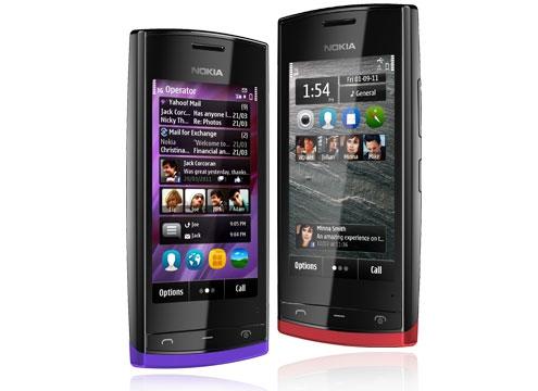 Nokia 500 красный и синий