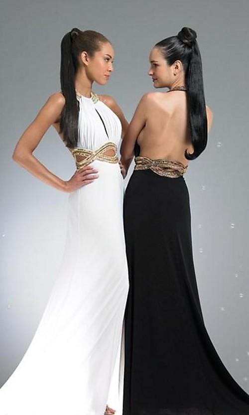 Платье черное и белое