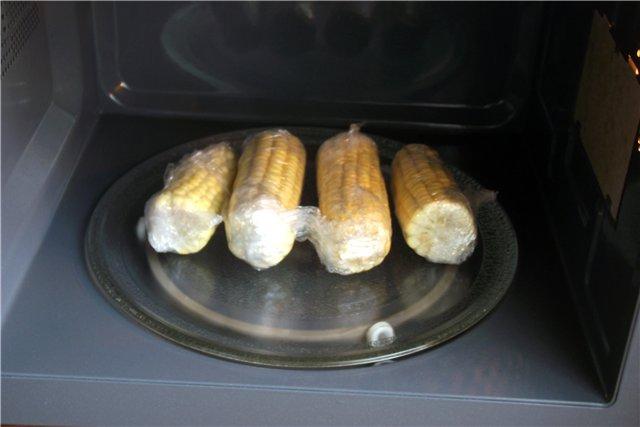 Кукуруза в микроволновке