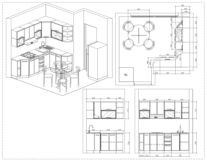Как правильно спроектировать угловую кухню? фото