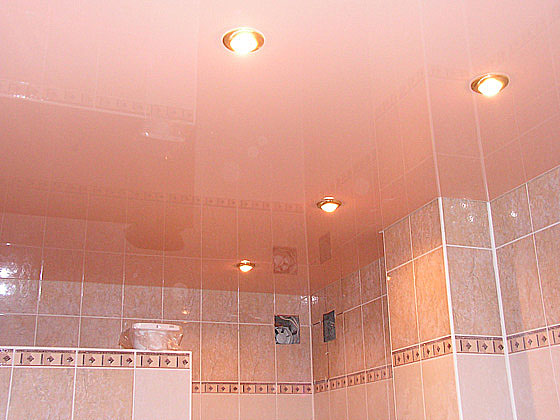 Как выбрать потолок в ванную комнату? фото