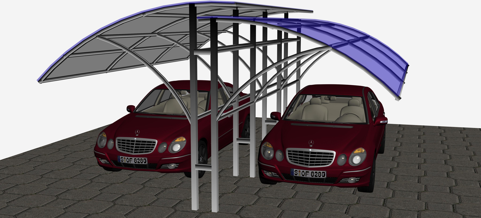 В чем преимущества поликарбонатных конструкций для автомобилей? фото