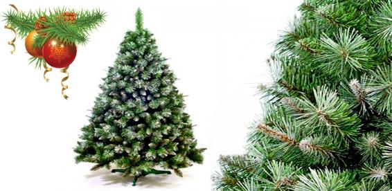 Заснеженные искусственные елки - прекрасная альтернатива живому дереву - фото