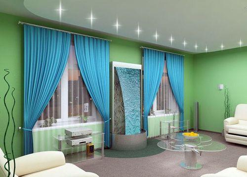 Какие шторы подойдут к зеленым обоям? фото
