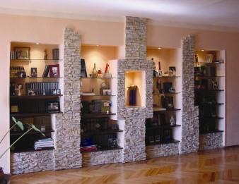 Как украсить интерьер натуральным камнем? фото
