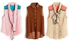 Как носить блузку без рукавов? фото