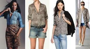 С чем носить леопардовую блузку? фото