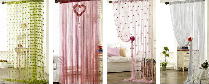 Как оформить веревочные шторы? фото