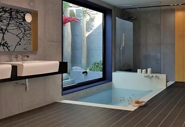 Как сделать ванну в стиле хай тек? фото