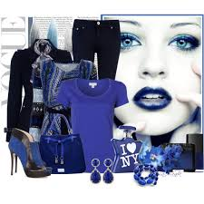 С чем носить синюю блузку? фото
