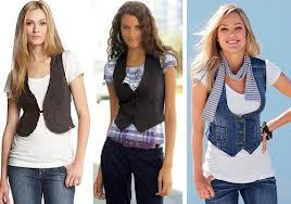 С чем носить женскую жилетку? фото