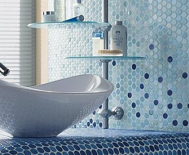 Как клеить мозаику в ванной? - фото
