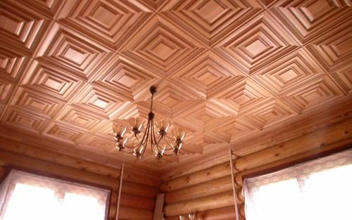 Как сделать деревянный потолок в квартире? фото