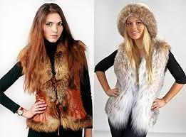Как носить меховую жилетку осенью и с чем? фото
