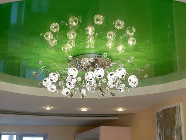 Как выбрать люстру для натяжного потолка? фото