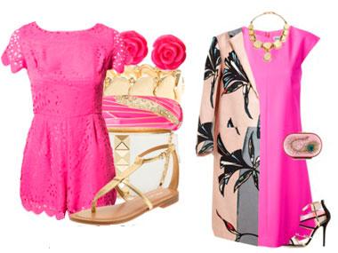 Какие аксессуары подойдут к розовому платью? - фото
