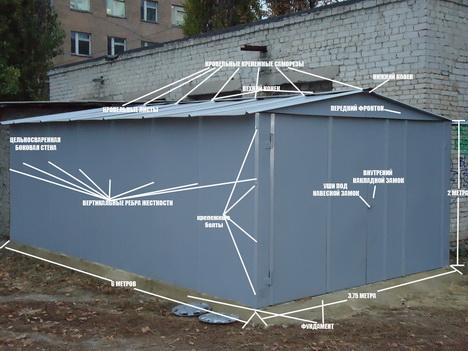 Как самому построить металлический гараж? фото