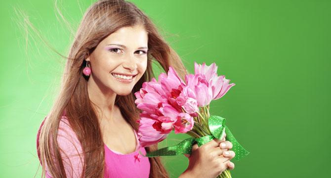 Какие цветы подарить девушке весам? фото
