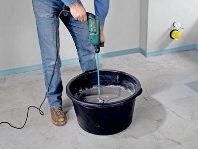 Как смешивать цемент с песком?  фото