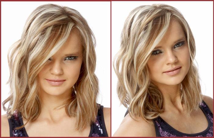Как красиво сделать укладку на волосы средней длины? фото