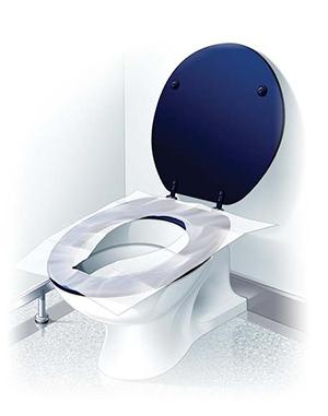 В чем преимущества одноразовых сидений для унитаза? - фото