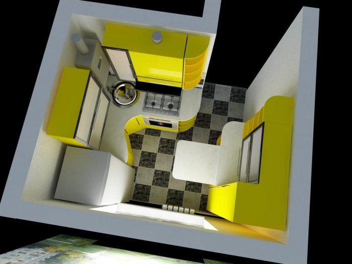 Как спланировать маленькую кухню?  фото