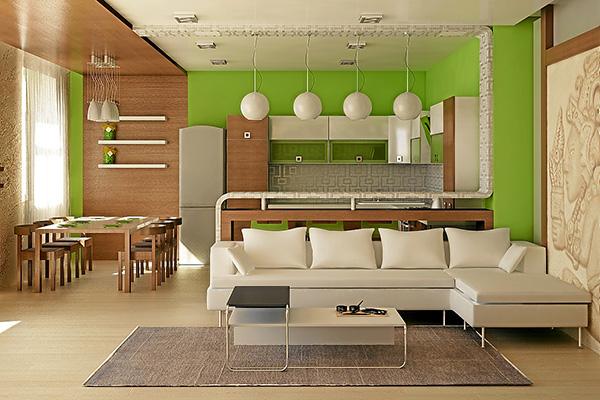Как сделать кухню в квартире студии? фото
