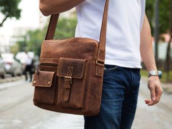 Как выбрать кожаную мужскую сумку? фото