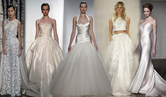 Какие модные свадебные платья в 2015 году? фото