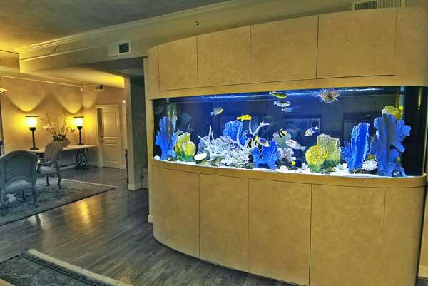 Как обслуживать встроенный аквариум? - фото