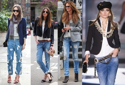 Как сочетать джинсы и женский пиджак? - фото