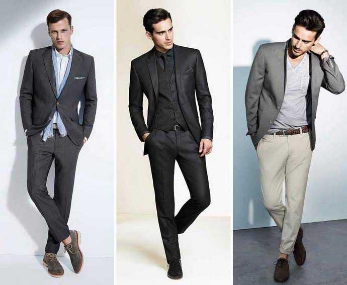 Какой пиджак подойдет к серым брюкам? - фото