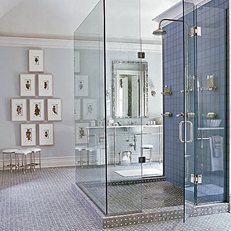 Как сделать уникальный душ в ванной? фото