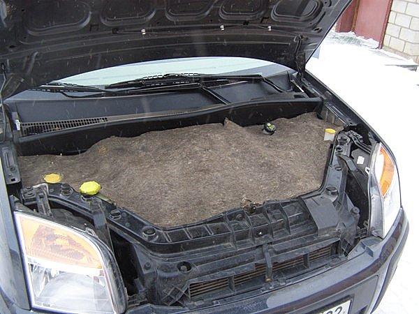 Как утеплить двигатель войлоком? фото