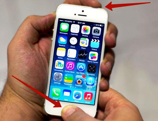 Как в iPhone 5 сделать скриншот? фото