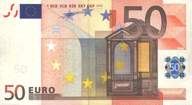 Как отличить подделку 50 евро? фото