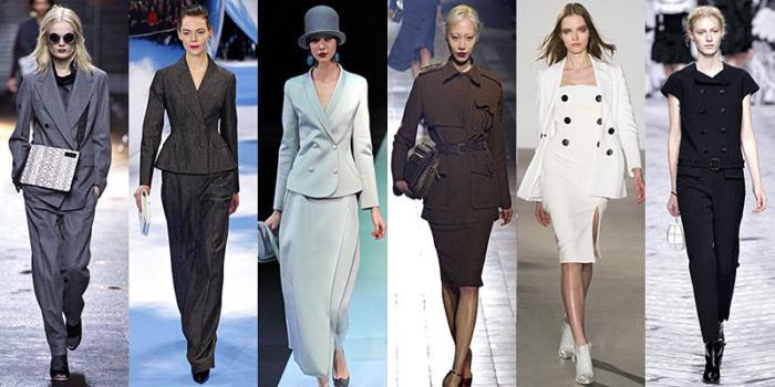 Какие женские костюмы в моде осень зима 2015 2016? фото