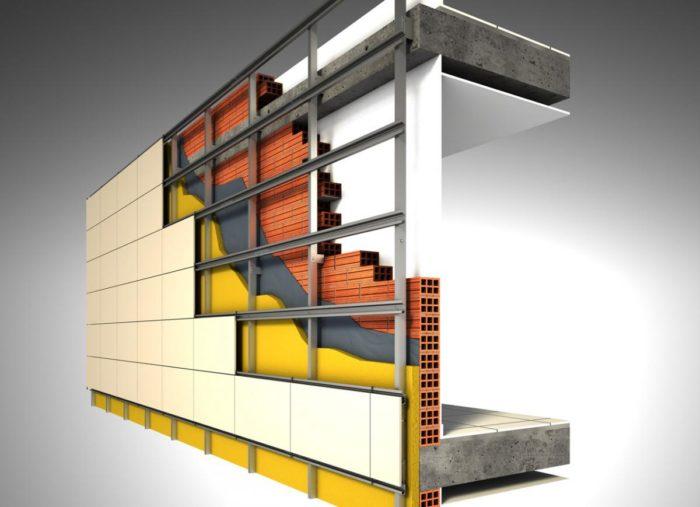 Как монтировать вентилируемый фасад здания? фото