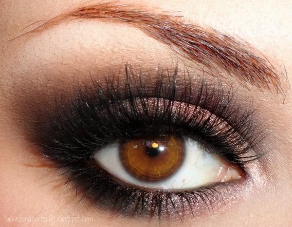 Как сделать вечерний макияж для карих глаз? фото