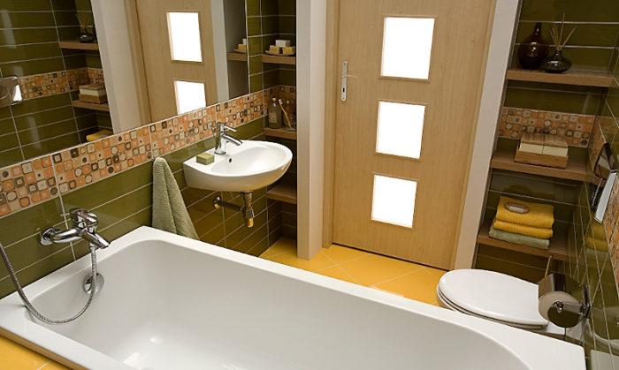 Какие выбрать двери для ванной комнаты? фото