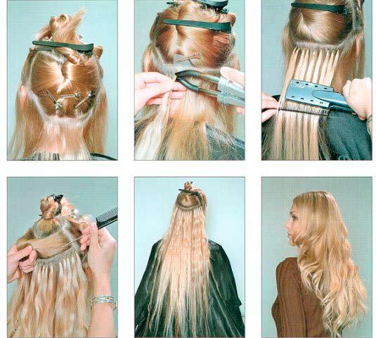 Как наращивают волосы? - фото
