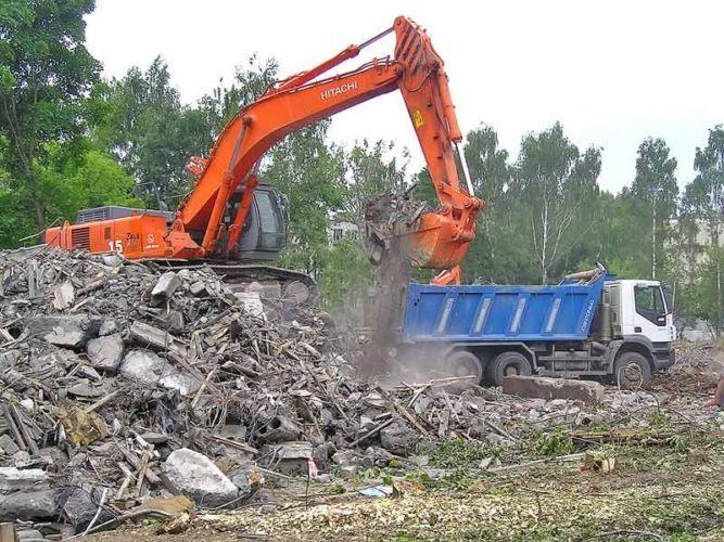Как правильно вывезти строительный мусор с помощью контейнера? фото