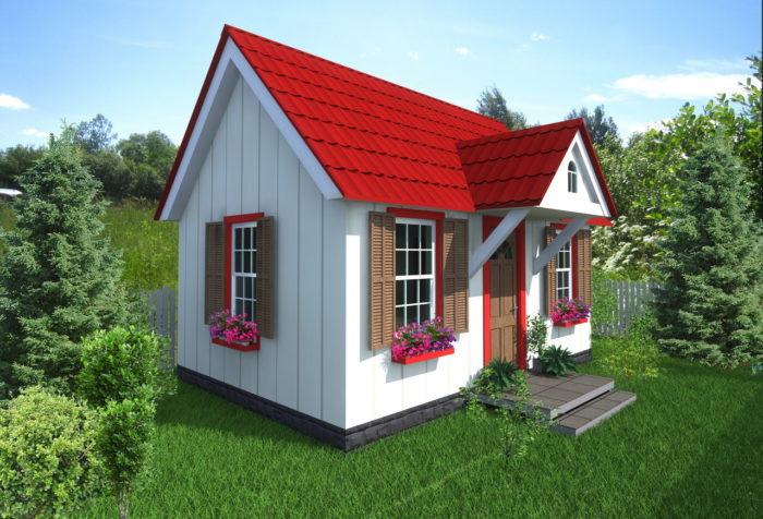 Из чего построить недорогой дачный домик? фото