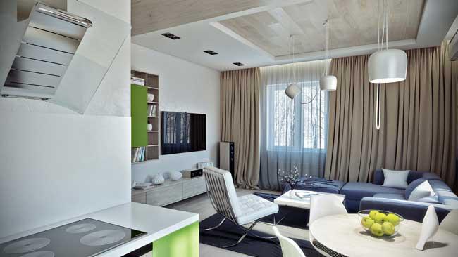 Как оформить однокомнатную квартиру в современном стиле? - фото