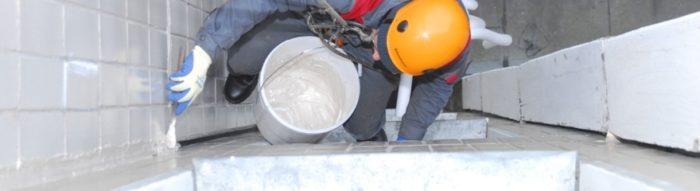 Герметизация межпанельных швов в Москве промышленными альпинистами компании «PROMALP MOSKVA» фото