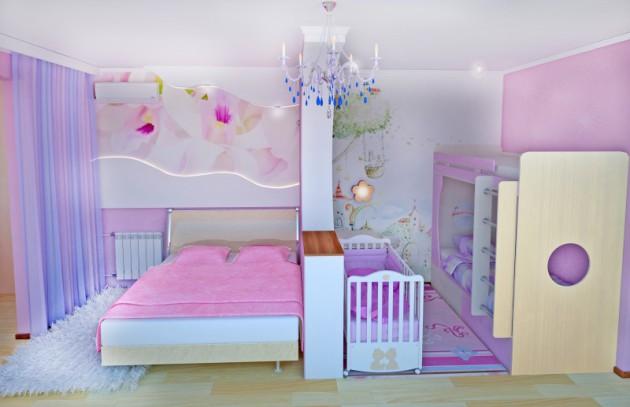 Как разделить комнату для родителей и ребенка? фото